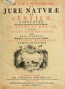 Самуэль фон Пуфендорф. De jure naturae et gentium.