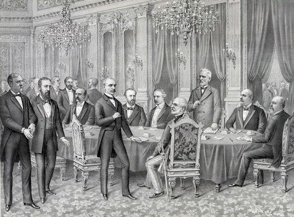Подписание международного договора в Париже, 1898 год