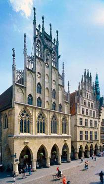 Мюнстерская ратуша – место проведения переговоров о заключении Вестфальского мира между Священной Римской империей и Францией