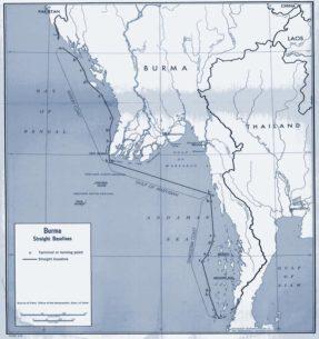 Система прямых исходных линий территориального моря, установленная Бирмой.