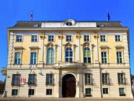 Администрация федерального канцлера Австрии (Ballhausplatz), где в 1814-1815 годах проходили встречи участников Венского конгресса